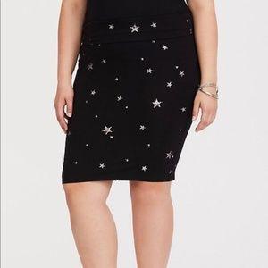 Torrid Women's Skirt Star Fold-Over Skirt Pencil